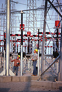 Quebec, Canada, February 1980.   The James Bay Project, a series of hydroelectric power stations on the La Grande River in northwestern Quebec, Canada, built by the state-owned utility Hydro-Quebec.  The project covers an area of the size of the State of New York and is one of the largest hydroelectric systems in the world, with a generating capacity of 16,527 megawatts. Hydro-Quebec sell his electricity to United States.