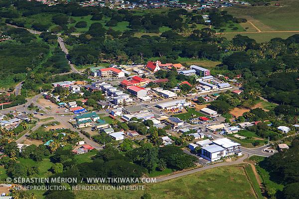 Village de Koné, province Nord, Nouvelle-Calédonie
