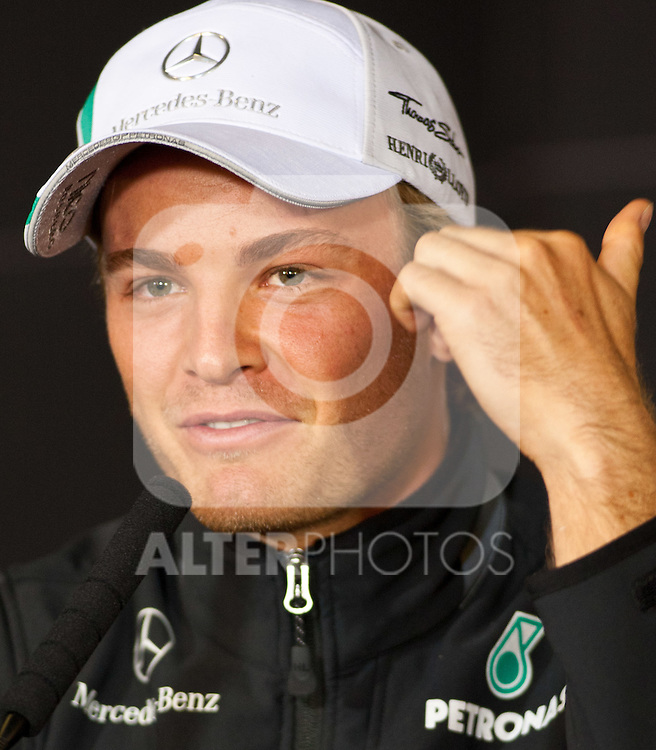 21.07.2011, Nuerburgring, Adenau, GER, F1, Grosser Preis von Deutschland, Nürburgring, Pressekonferenz, im Bild Nico Rosberg (GER), Mercedes GP Petronas F1 Team // during press conference at Formula One Championships 2011 German Grand Prix held at the Nuerburgring, Adenau, Germany, 21/7/2011, EXPA Pictures © 2011, PhotoCredit: EXPA/ J. Groder