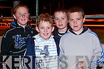 GONE TO THE DOGS: Enjoying the fun at the Kingdom Greyhound Stadium, Tralee, on Saturday night were l-r: Brendan Reidy, JJ Lee, Kieran Regan and Fiona?n Mackessy.   Copyright Kerry's Eye 2008