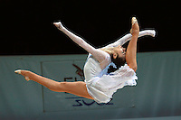 Anna Bessonova of Ukraine handsfree split leaps (frame 2)  during gala exhibition at 2006 Thiais Grand Prix in Paris, France on March 26, 2006.  (Photo by Tom Theobald)
