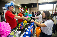 NWA Democrat-Gazette/BEN GOFF @NWABENGOFF<br /> Teachers and staff visit community vendors Friday, Aug. 9, 2019, during the Bentonville Teacher's Fair at Bentonville High School. The Greater Bentonville Area Chamber of Commerce holds the event before the start of classes each year to give community businesses and organizations a chance to connect with the approximately 1,800 teachers and administrators in the Bentonville School District. Tuesday is the first day of class in Bentonville schools.