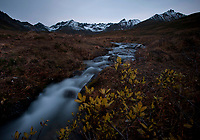 Headwaters of the Little Susitna River in the Talkeetna Mountains of Alaska.