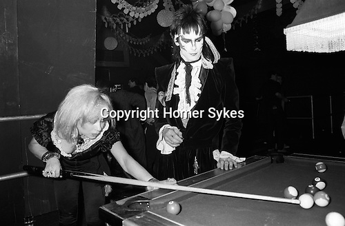 New Romantics, Heaven nightclub Villiers Street, Charing Cross, London, 1980. Tim Dry,with zig zag makeup is Tok (Tokky) of Tik and Tok, and fashion designer Jane Kahan