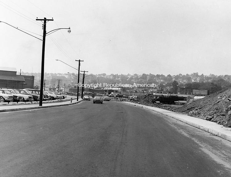 Bank Street looking towards Brooklyn August 1965.