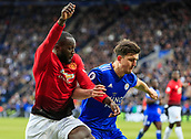 3rd February 2019, King Power Stadium, Leicester, England; EPL Premier League Football, Leicester City versus Manchester United; Romelu Lukaku of Manchester United and Harry Maguire of Leicester City challenge for the ball