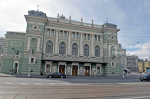 St. Petersburg, Russia - August 15, 2009 -- The Mariinsky Theatre, a historic venue for ballet and opera in St. Petersburg, Russia on Saturday, August 15, 2009..Credit: Ron Sachs / CNP