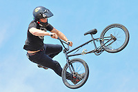 19 August, 2012:  Zachery Warden competes on the BMX Mega 2.0 ramp at the Pantech Beach Championships in Ocean City, Md.  Zack finished in first in the event.