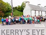 The large group of walkers who took part in the fundraising walk tor Irish International Basketballer Siofra O'Shea who is playing with Ireland in the U18 Fiba European Championships this week in Macedonia at the start of the 'Walk with the Planets' at Caherdaniel on Sunday last.