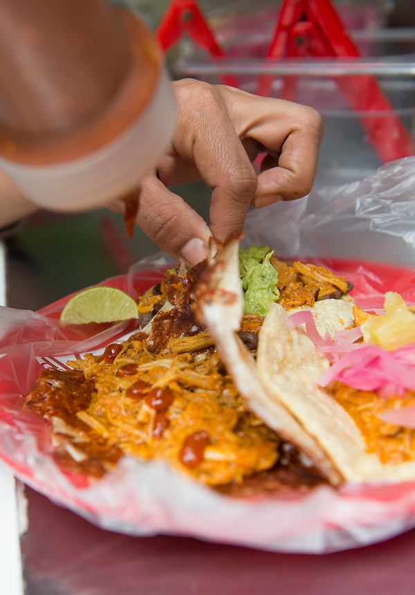 Cochinita Pibil. Foodtruck, streetfood, Mexico City