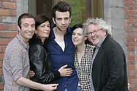 Montreal (Qc) CANADA - May 2010 -The Trotsky written and directed by <br /> Jacob Tierney ; David Julian Hirsh, Anne-Marie Cadieux, Jay Baruchel, Emily Hampshire<br /> , Kevien tierney (producer)