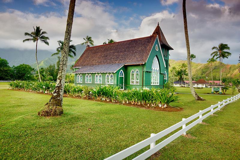 Waioli Hulia Church. Hanalei, Kauai, Hawaii.