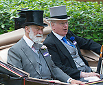 21.06.2017; Ascot, UK: PRINCE MICHAEL OF KENT AND THE DUKE OF GLOUCESTER<br /> travel in the royal procession to Royal Ascot.<br /> Mandatory Credit Photo: &copy;Dias/NEWSPIX INTERNATIONAL<br /> <br /> IMMEDIATE CONFIRMATION OF USAGE REQUIRED:<br /> Newspix International, 31 Chinnery Hill, Bishop's Stortford, ENGLAND CM23 3PS<br /> Tel:+441279 324672  ; Fax: +441279656877<br /> Mobile:  07775681153<br /> e-mail: info@newspixinternational.co.uk<br /> Usage Implies Acceptance of OUr Terms &amp; Conditions<br /> Please refer to usage terms. All Fees Payable To Newspix International