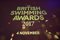 Picture by Allan McKenzie/SWpix.com - 04/11/17 - Swimming - British Swimming Awards 2017 - The Poiint, Lancashire County Cricket Ground, Manchester, England - British Swimming Awards signage.