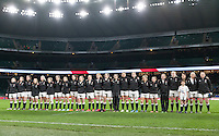 England during the National Anthems, England Women v France Women in the 6 Nations at Twickenham Stadium, Twickenham, England, on 21st March 2015