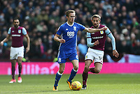 Maikel Kieftenbeld of Birmingham City wins the ball from  Conor Hourihane of Aston Villa <br /> <br /> Photographer Leila Coker/CameraSport<br /> <br /> The EFL Sky Bet Championship - Aston Villa v Birmingham City - Sunday 11th February 2018 - Villa Park - Birmingham<br /> <br /> World Copyright &copy; 2018 CameraSport. All rights reserved. 43 Linden Ave. Countesthorpe. Leicester. England. LE8 5PG - Tel: +44 (0) 116 277 4147 - admin@camerasport.com - www.camerasport.com
