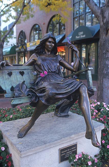 Sculpture, Pearl Street Mall, Boulder, Colorado