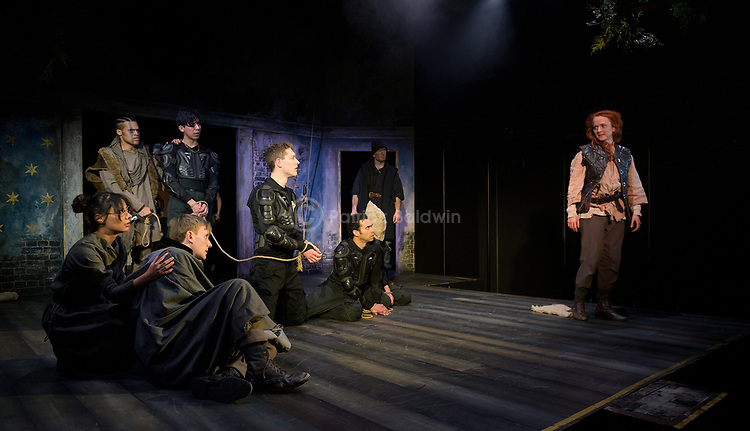 The Royal Central School of Speech and Drama.<br /> CYMBELINE, KING OF BRITAIN<br /> by William Shakespeare<br /> Co-Directed by Ben Naylor & Anna Healey<br /> Designer - Lizzy Leech<br /> Lighting Designer - Joshua Gadsby<br /> Lighting Associate - Sam Thomas