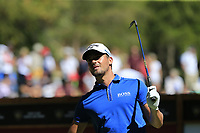 Haydn Porteous (RSA) tees off the 6th tee during Sunday's Final Round 4 of the 2018 Omega European Masters, held at the Golf Club Crans-Sur-Sierre, Crans Montana, Switzerland. 9th September 2018.<br /> Picture: Eoin Clarke | Golffile<br /> <br /> <br /> All photos usage must carry mandatory copyright credit (&copy; Golffile | Eoin Clarke)
