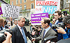 Nigel Farage MEP UKIP Leader launches the largest National advertisement campaign of the EU referendum in Westminster Today<br /> 16th June 2016 outside Europe House, Smith Square, London, Great Britain <br /> <br /> <br /> Nigel Farage being interviewed by Norman Smith BBC News <br />  <br />  <br /> <br /> <br /> Photograph by Elliott Franks <br /> Image licensed to Elliott Franks Photography Services