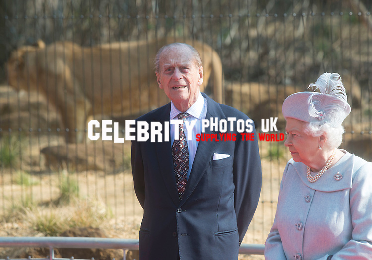 HM The Queen and HRH The Duke of Edinburgh open the  ZSL London Zoo&rsquo;s new  exhibit,<br />  Land of the Lions, on 17th march 2016