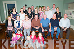 O'Connor Family Reunion: Pictured at the O'Connor family reunion from Ballylongford at the Listowel Arms Hotel on Saturday night last were in front Doireann O'Neill, Ruadhri Ginty, Fionn, Aobha & Fodha Corroon. Seated ; Eileen Cosgrove, Peggy Ginty, Mary O'Connor, Tom O'Connor, Eamonn Cosgrove, Tony Cosgrove & Pat Ginty. Standing : Rosella Brennan, Claire Corroon, Padraig Ginty, Helen McCormack, Damien O'Neill, Michelle Cooney, Eileen O'Connor, James Brennan, Steven Cosgrove, John Corroon & Amanda O'Neill.