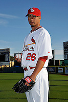 Mar 01, 2010; Jupiter, FL, USA; St. Louis Cardinals pitcher Kyle Lohse (26) during  photoday at Roger Dean Stadium. Mandatory Credit: Tomasso De Rosa/ Four Seam Images