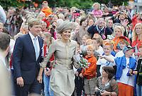 KONINGSHUIS: JOURE: 14-06-2013, Koninklijk bezoek, Westermarskoalle, ©foto Martin de Jong