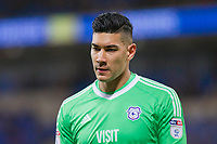 Goalkeeper Neil Etheridge of Cardiff City during the Sky Bet Championship match between Cardiff City and Preston North End at the Cardiff City Stadium, Cardiff, Wales on 29 December 2017. Photo by Mark  Hawkins / PRiME Media Images.