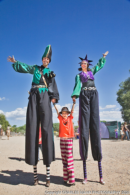 The Third Annual Santa Fe Renaissance Fair was held at Rancho de Las Golondrinas near Santa Fe in September 2010 and was a colorful and well attended event. The Clan Tynker stilt people wander the Faire.