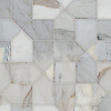 Maxfield, a hand-cut stone mosaic, shown in honed Angora, is part of the Semplice® collection for New Ravenna.
