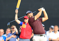 Ryan Moore (USA) tees off the 15th tee during Thursday's Round 1 of the 145th Open Championship held at Royal Troon Golf Club, Troon, Ayreshire, Scotland. 14th July 2016.<br /> Picture: Eoin Clarke | Golffile<br /> <br /> <br /> All photos usage must carry mandatory copyright credit (&copy; Golffile | Eoin Clarke)