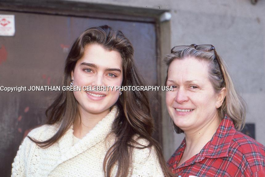 Brooke Shields & Mom Teri Shields 1986 By Jonathan Green