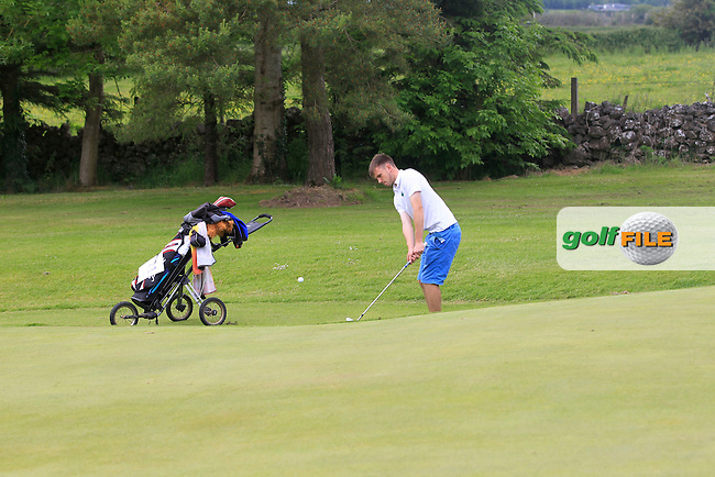 John Bolger (Courtown) chips onto the 6th green during Round 2 of the Irish Boys Amateur Open Championship at Tuam Golf Club on Wednesday 24th June 2015.<br /> Picture:  Thos Caffrey / www.golffile.ie