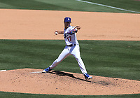 25th July 2020, Los Angeles, California, USA;  Los Angeles Dodgers pitcher Joe Kelly (17) throws a pitch during the game against the San Francisco Giants on July 25, 2020, at Dodger Stadium in Los Angeles, CA.