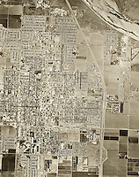 historical aerial photograph Santa Maria, California, 1967