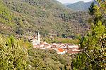 Village of Linares de la Sierra, Sierra de Aracena, Huelva province, Spain