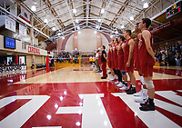 STANFORD, CA - March 10, 2018: Team at Burnham Pavilion. UC Irvine defeated the Stanford Cardinal, 3-0.