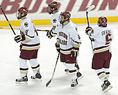 Mike Brennan, Anthony Aiello, Dan Bertram, Nathan Gerbe - Boston College defeated Merrimack College 3-0 with Tim Filangieri's first two collegiate goals on November 26, 2005 at Kelley Rink/Conte Forum in Chestnut Hill, MA.