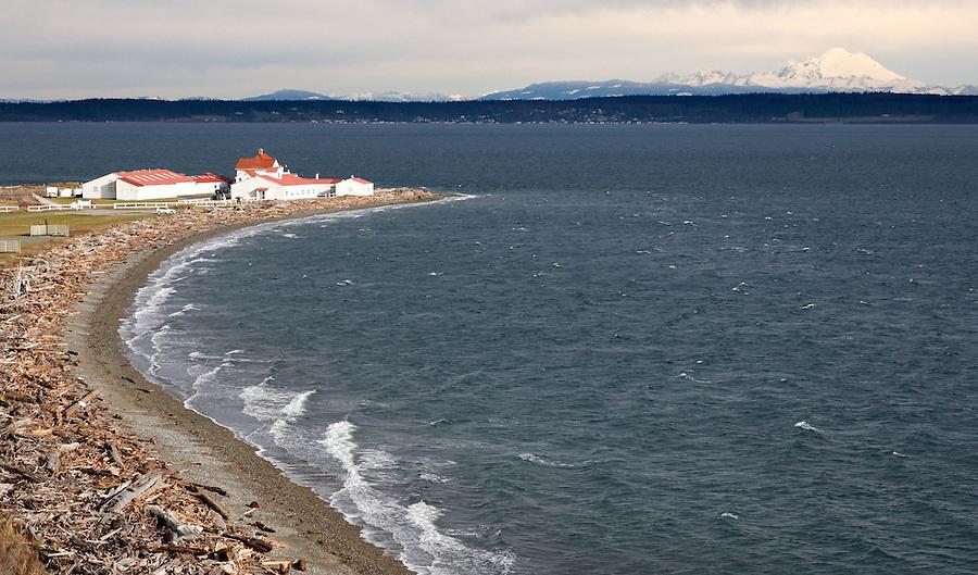 Marrowstone Point Lighthouse, Fort Flagler State Park, Washington, USA