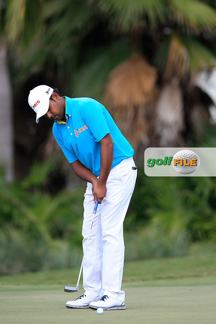 Anirban Lahiri (IND) during the 1st round at the WGC Cadillac Championship, Blue Monster, Trump National Doral, Doral, Florida, USA<br /> Picture: Fran Caffrey / Golffile