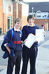 Jinior Cert Results 2010 Conor Berth and James Ryan.Picture Fran Caffrey/www.newsfile.ie.