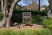 Mullin Entrance and Mullin Grove at the main entrance to Occidental College's campus on May 1, 2019.<br /> (Photo by Marc Campos, Occidental College Photographer)