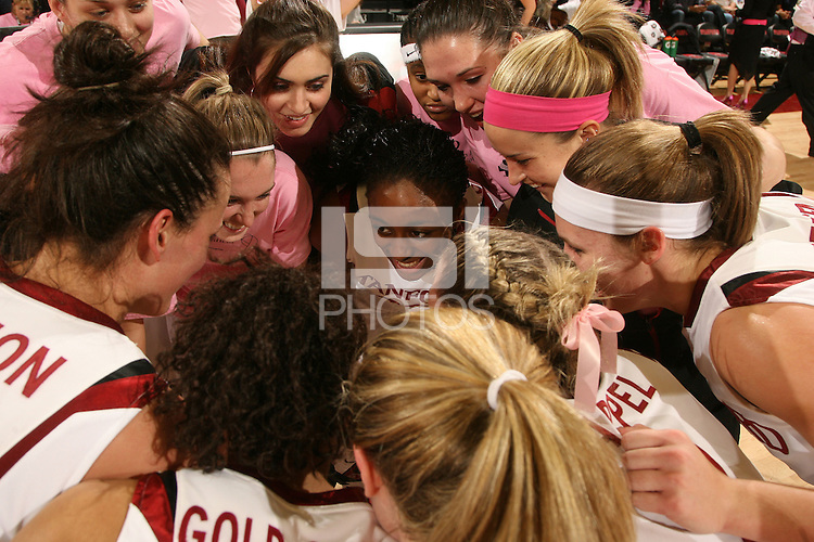 STANFORD, CA - FEBRUARY 14:  (Not in order) Forward Michelle Harrison #5, forward Kayla Pedersen #14, forward Morgan Clyburn #31, forward Nnemkadi Ogwumike #30, guard Melanie Murphy #0, forward Sarah Boothe #42, guard JJ Hones #10, forward Kayla Pedersen #14, forward Jayne Appel #2, guard Lindy La Rocque #15, guard Rosalyn Gold-Onwude #21, and forward Jillian Harmon #33 of the Stanford Cardinal during Stanford's 58-41 win against the California Golden Bears on February 14, 2009 at Maples Pavilion in Stanford, California.