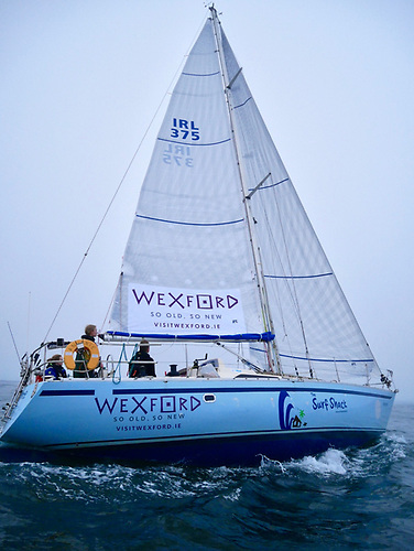 The Yamaha 36 Andante sailing off Wexford