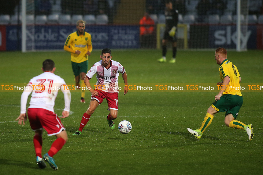 Tom Pett of Stevenage in action during Stevenage vs Norwich City, Friendly Match Football at the Lamex Stadium on 11th July 2017