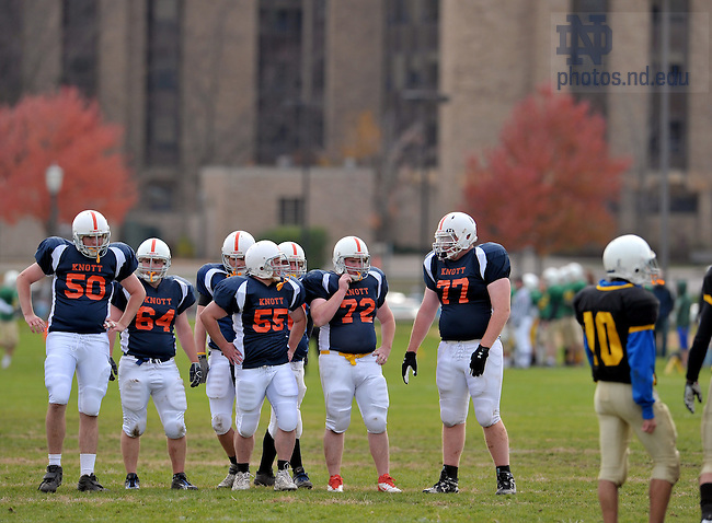 Oct. 30, 2011; Interhall football: Knott vs Morrissey..Photo by Matt Cashore/University of Notre Dame