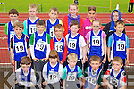 The Annascaul Team at the Kerry community games athlethics finals at an Riocht, Castleisland on Saturday.