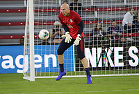 WASHINGTON D.C. - OCTOBER 11: Brad Guzan #1 of the United States during warm up prior to their Nations League game versus Cuba at Audi Field, on October 11, 2019 in Washington D.C.