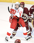 Ryan Jones, Benn Ferreiro - The Boston College Eagles defeated the Miami University Redhawks 5-0 in their Northeast Regional Semi-Final matchup on Friday, March 24, 2006, at the DCU Center in Worcester, MA.